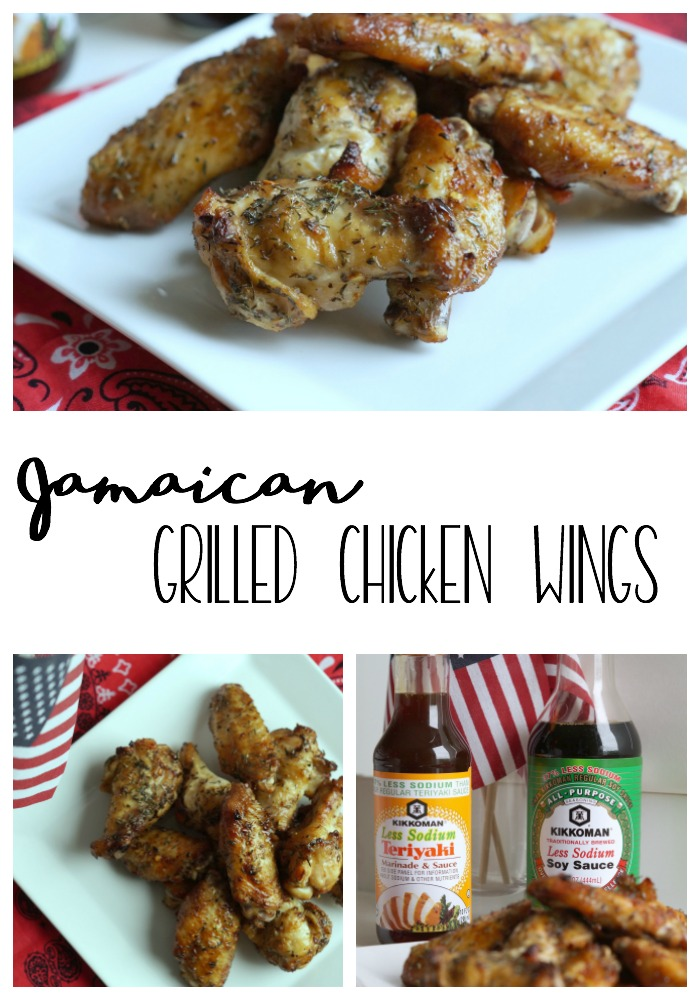 Perfect for summer cookouts, Jamaican Grilled Chicken Wings are a great way to bring the flavors of the islands to your own home. #KickinItWithKikkoman #AD