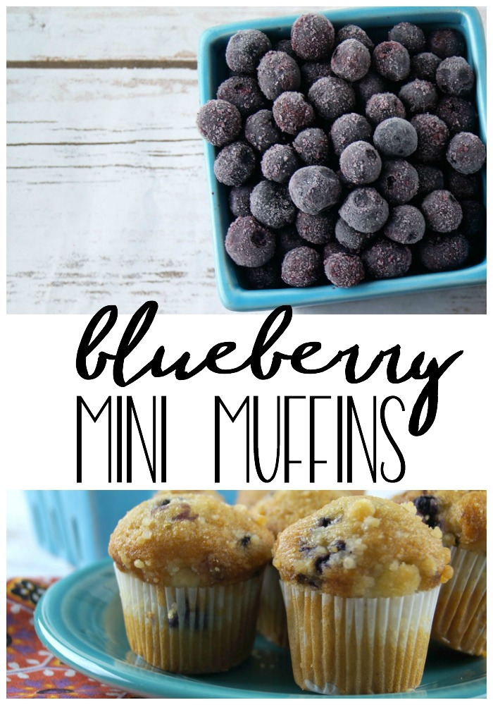 This quick and easy blueberry mini muffins recipe is perfect for kids and adults! #muffins #recipe #breakfast #brunch