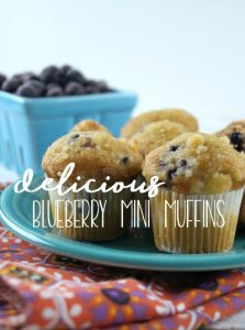 Delicious Blueberry Mini Muffins