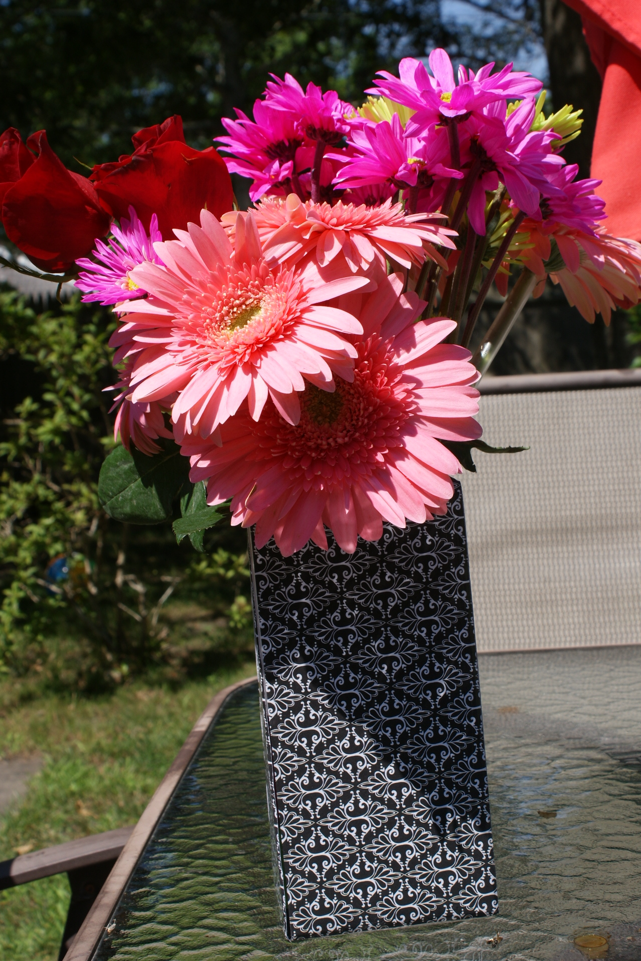Add Flowers to your Upcycled Vase