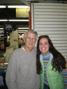 The Legendary Johnny Pesky and Me inside the Team Store