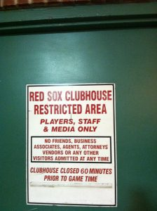 Red Sox photo - clubhouse