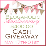 celebrate the Blogaholic Social Network's 1st anniversary with a $400 PayPal cash giveaway