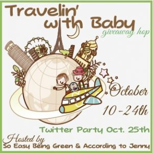 win a Moby Wrap in the Travelin with Baby Giveaway Hop (US only)