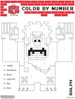 Wreck it Ralph Coloring Sheet