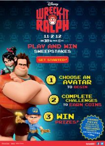 Wreck It Ralph Adventures by Disney Sweepstakes