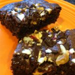 basic brownies with a peppermint twist
