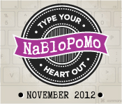 NaBloPoMo November - Nap Time is My Time