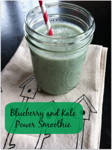 Blueberry Oat and Kale Smoothie