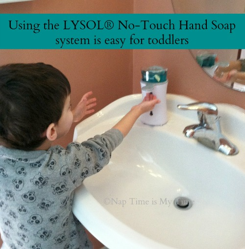 Lysol No-Touch Hand Soap Easy for Toddlers