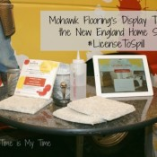 Mohawk Flooring's Sample Table at the New England Home Show #LicenseToSpill