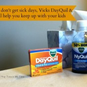Vicks NyQuil and DayQuil help busy moms keep things going when they have the flu. #spon