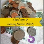 small steps to achieving financial stability