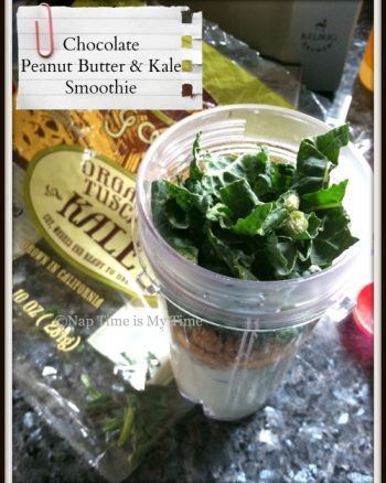 Chocolate Peanut Butter Kale Smoothie