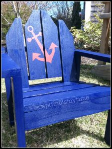 DIY: toddler adirondack chair with anchor decal