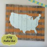 DIY Pallet Art – A Map of the USA