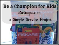 Simple Service Project: Champions for Kids with Fiskars