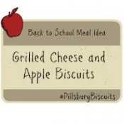 Back to School Meal Idea Grilled Cheese and Apple Biscuits #PillsburyBiscuits #sponsored