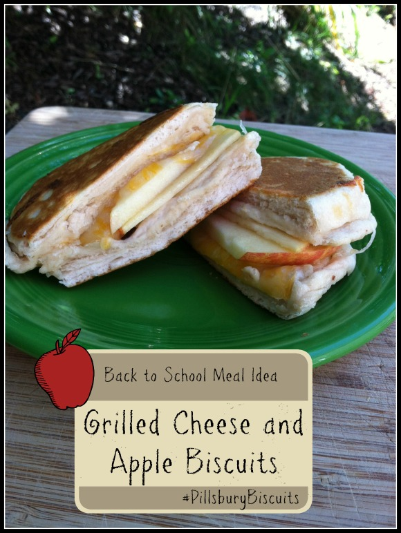 Grilled Cheese and Apple Biscuits #PillsburyBiscuits #sponsored