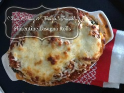 Florentine Lasagna Rolls: Clean Eating and Freezer Friendly