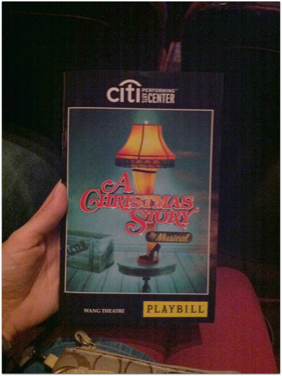 A Christmas Story the Musical playbill #weekinphotos