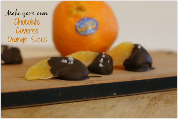 Make Your Own Chocolate Covered Orange Slices #HalosFun #ad