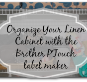 Organize with the Brother PTouch #Ptouch25 #MC #sponsored TN