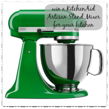 Enter to win a KitchenAid Stand Mixer