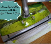 Embrace Life's Little Messes with the Swiffer Sweep & Trap, available at Target. #SwifferAtTarget #client