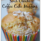 Delicious Sour Cream Coffee Cake Muffins from naptimeismytime.com#sponsored