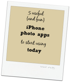 5 iPhone Photo Apps to start using today