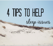 Follow these 4 tips to help combat sleep issues #insomniahelp #ad