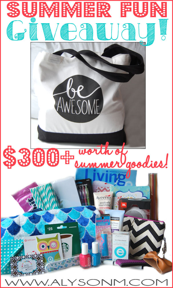 Enter to win the Summer Fun Giveaway worth over $300 in prizes