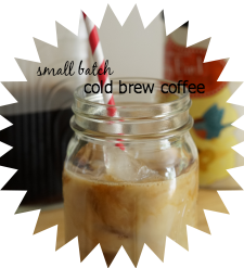 Making small batch cold brew coffee is easier than you think!