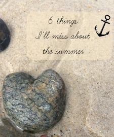 Summer days pass so quickly. Today, I'm sharing 6 things I will miss about this summer #capecodsummer