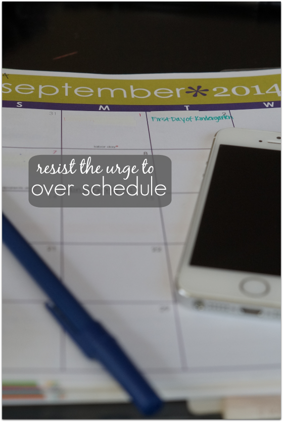Back to School Tip: Resist the urge to over schedule. #HydrationEducation #client
