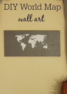 Make this easy DIY World Map Wall Art from @naptimeismytime