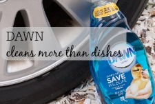 Taking DAWN beyond the sink: cleaning your vehicle tires