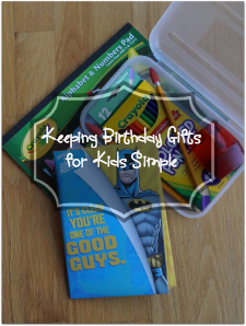 Keeping Birthday Gifts for Kids Simple