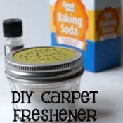 Keep your home clean with these 3 easy steps and make your own DIY carpet freshener recipe. #EurekaPower #ad