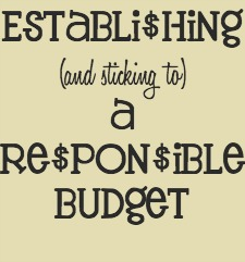 Tips on Establishing a Responsible Budget for #FinancialPeace @CaptialOne360 #ad