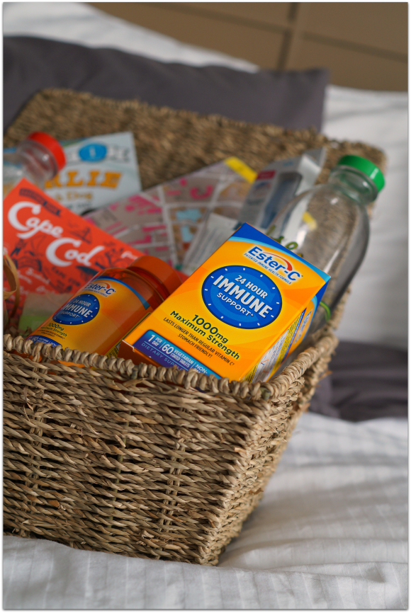 Guests in town for the holidays? Make them an immune support gift basket this season! #24HourEsterC #ad