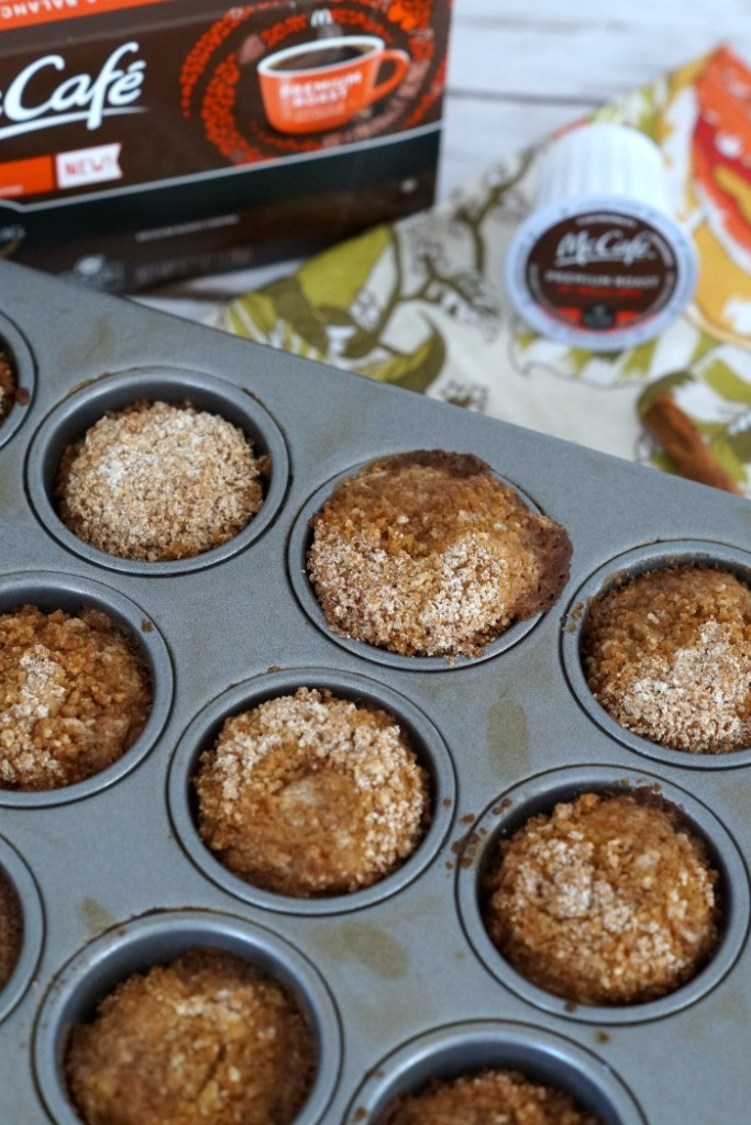 This delicious two bite coffee cake muffin recipe pairs well with new McCafé Coffee available at your local Walmart. #McCafeMyWay #ad
