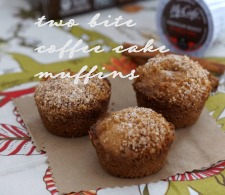 This delicious two bite coffee cake muffin recipe pairs well with new McCafe Coffee available at your local Walmart. #McCafeMyWay #ad