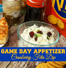 This cranberry feta dip is the perfect appetizer as you #PrepareToParty and watch the big game! #ad
