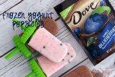 Looking for a delicious frozen snack? Learn how to make frozen yogurt popsicles - they're perfect any time of day! #LoveDoveFruits #ad