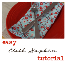5 Simple Steps to Greener Living and a Cloth Napkin Tutorial