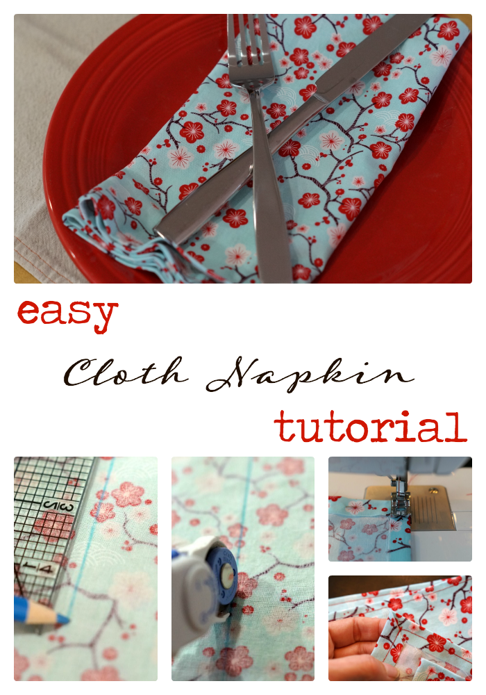 5 Simple Steps to Greener Living and an easy cloth napkin tutorial.