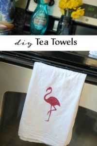 Make This: DIY Tea Towels Using Heat Transfer Vinyl