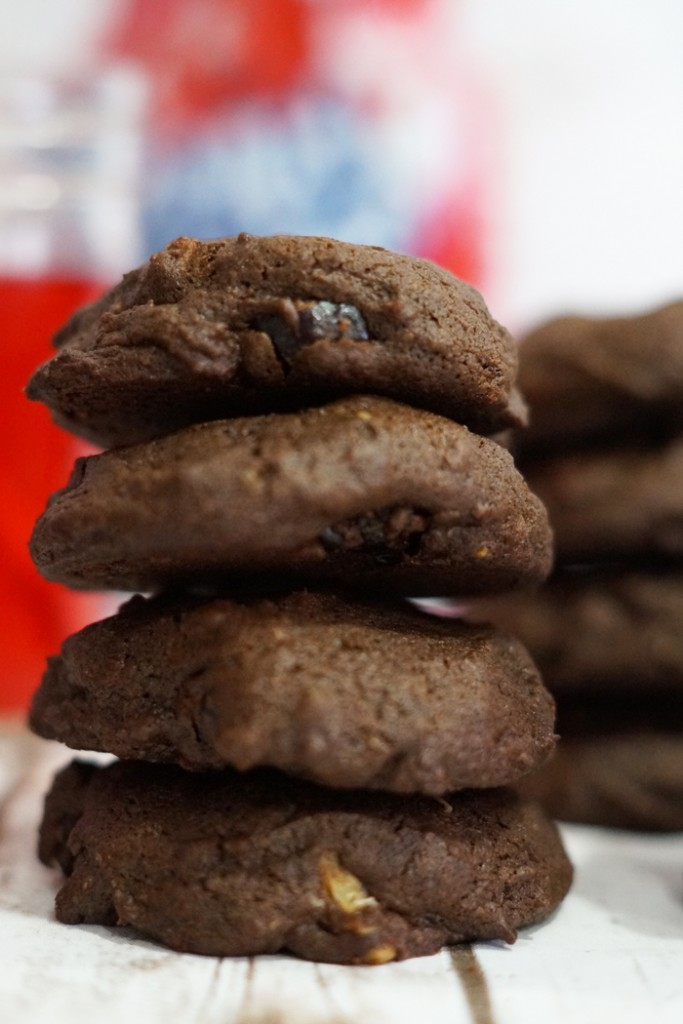 Drop everything and make this recipe for double chocolate cherry cookies today! Your tastebuds will thank you. #Cookies #Recipe #Baking